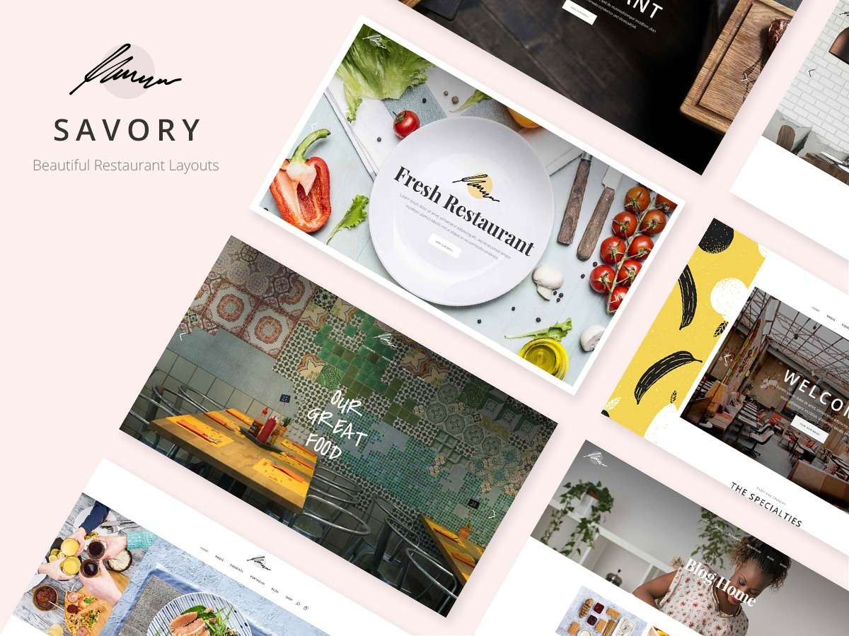 Savory WordPress restaurant theme