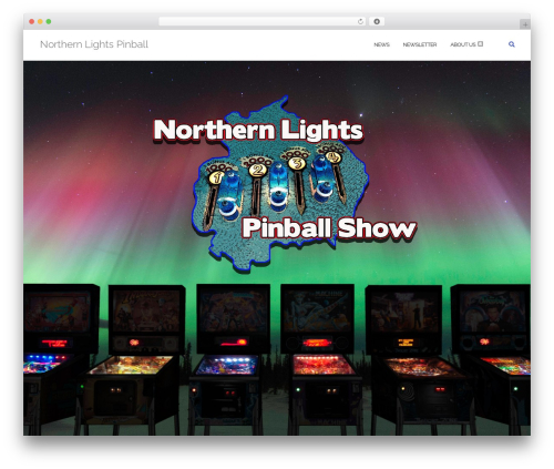 Shapely WordPress page template - ukpinball.com