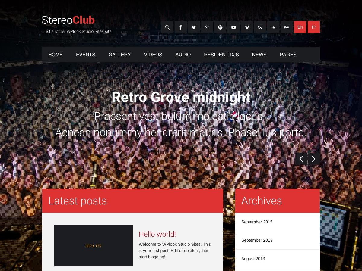 StereoClub WPL best WordPress template
