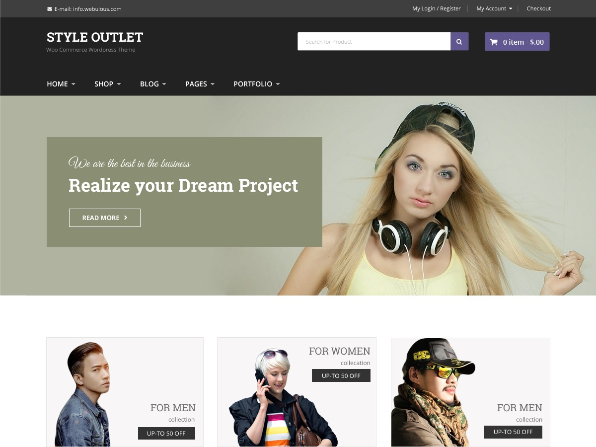 Style Outlet business WordPress theme