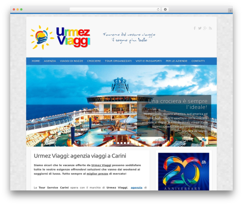 Travelify WordPress travel theme - urmezviaggi.it