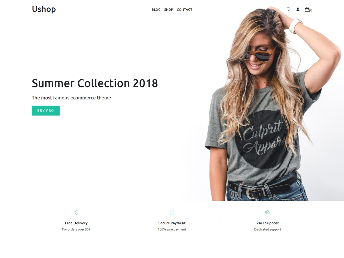 uShop WordPress store theme