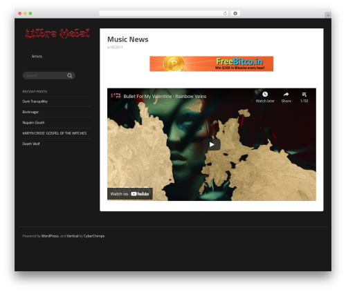 Vertical WordPress news theme - ultra-metal.com