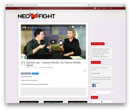 WooTube WordPress template - ftp.neo-fight.tv