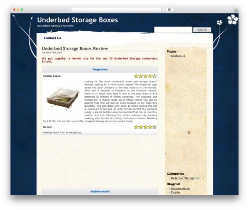 WordPress template Pretty Parchment - underbedstorageboxes.info