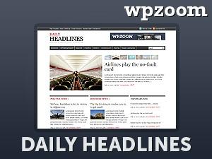 WordPress theme Daily Headlines