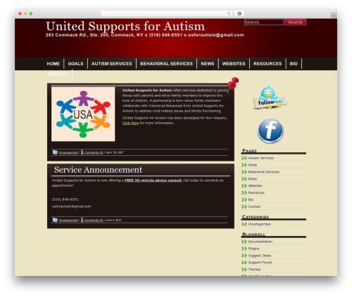WordPress theme Tandil - unitedsupportsforautism.com