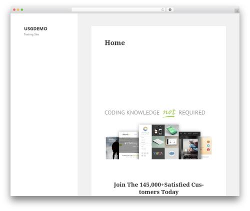 WordPress website template Twenty Fifteen - usgdemo.com