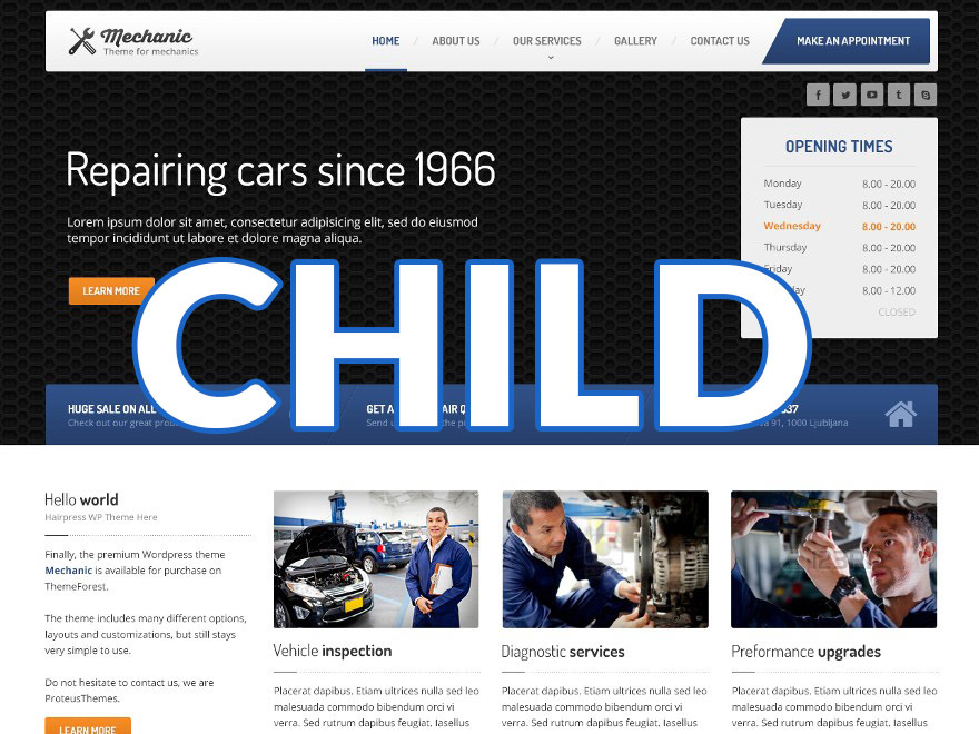 WP template Carpress Child