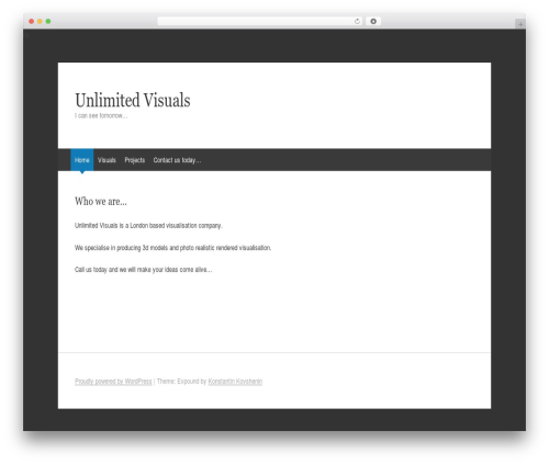 WP template Expound - unlimitedvisuals.com