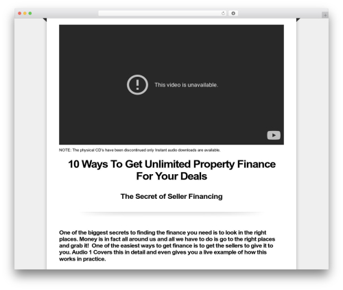 WP template OptimizePress - unlimitedpropertyfinance.com