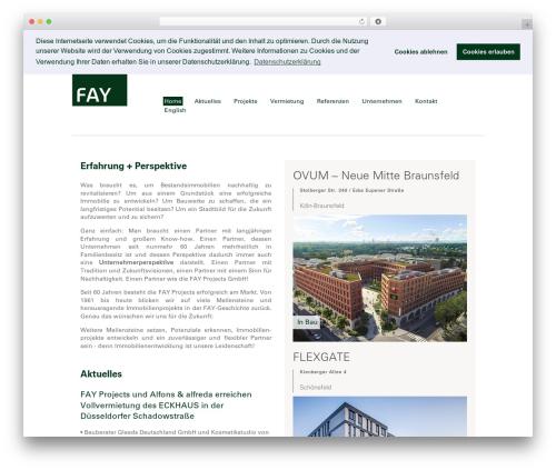 Free WordPress Page Builder by SiteOrigin plugin - fay.de