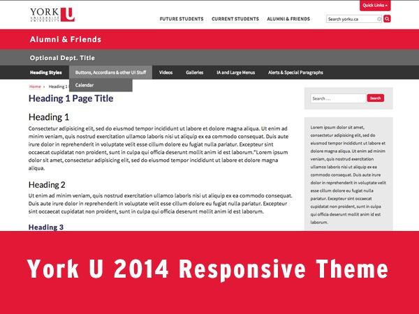 York Template 2014 premium WordPress theme