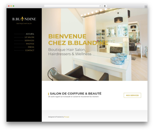 BeautySpot theme WordPress - bblandine.be