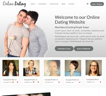 WordPress tema dating PD dating