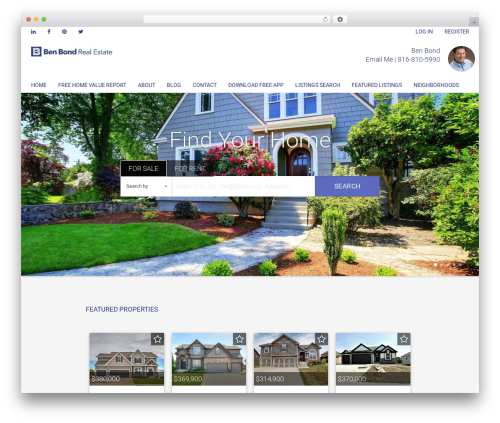Madison real estate WordPress theme - benbondrealestate.com