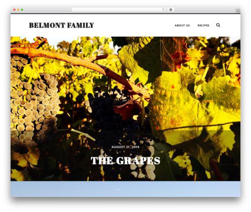 Radcliffe top WordPress theme - belmontfamily.com