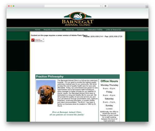 WordPress theme BLANK Theme - barnegatanimalclinic.com