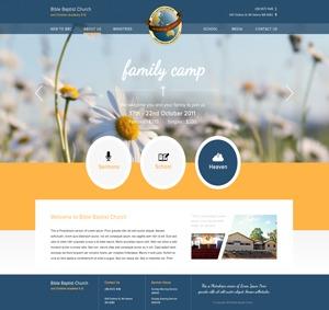 WP theme PWD Bible Baptist Church 01 by Perth Web Design