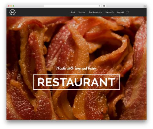 Best WordPress template Massive Dynamic - bacon-jam.de