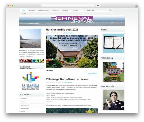 Best WordPress theme Bright - berneval.fr