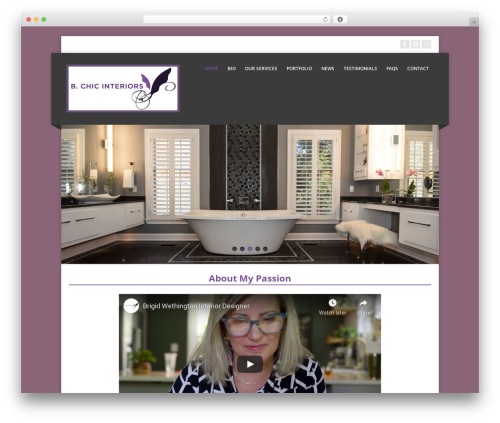 Corpo WordPress website template - bchicinteriors.com