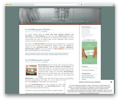 Dialogue WordPress website template - blog.bernstein-verlag.de