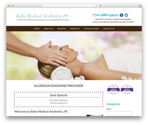 Flatsome medical WordPress theme - bellamedical.biz