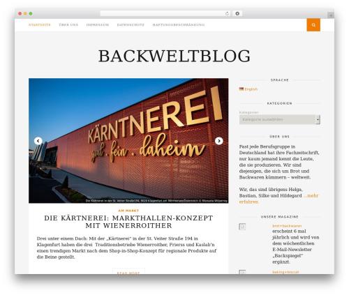 Florence WordPress blog theme - backweltblog.de