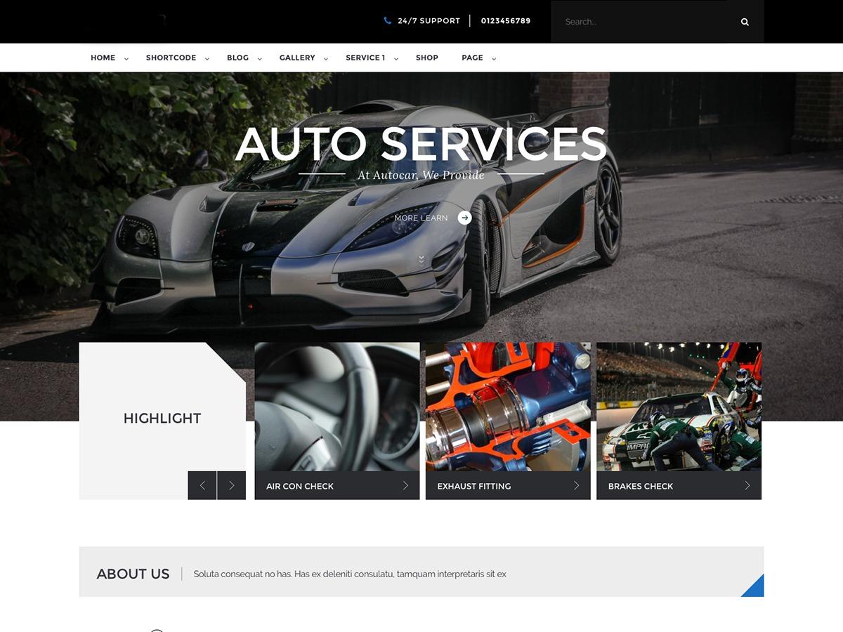Luxicar Lite automotive WordPress theme