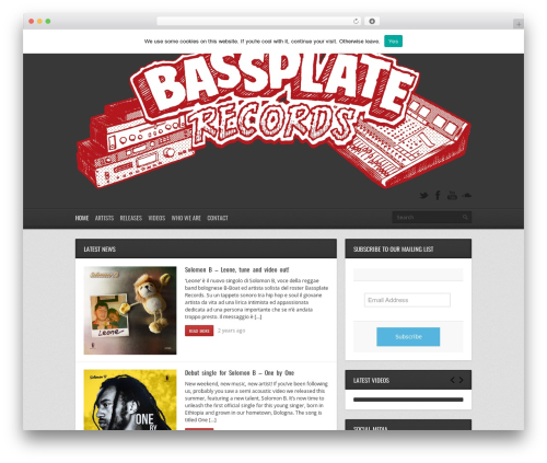 Replay WordPress page template - bassplaterecords.net
