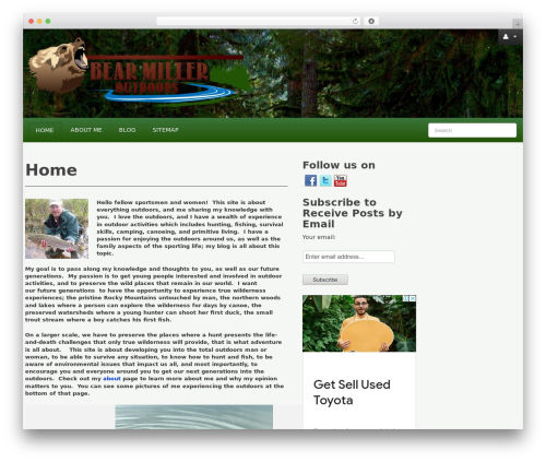 Revolution WordPress theme - bearmilleroutdoors.com
