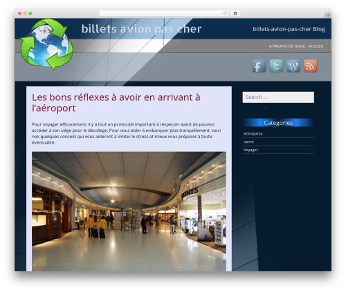 SG Simple best free WordPress theme - billets-avion-pas-cher.com