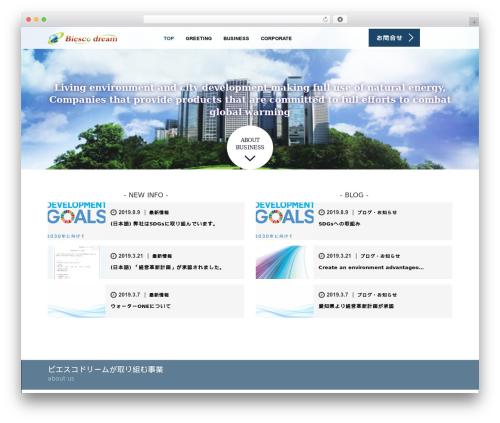 Template WordPress AGENT - biescodream.com