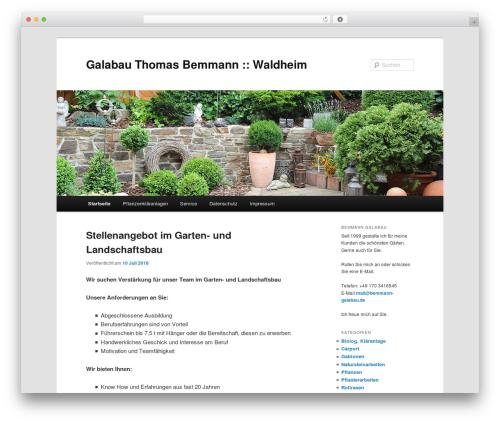 Twenty Eleven free website theme - bemmann-galabau.de