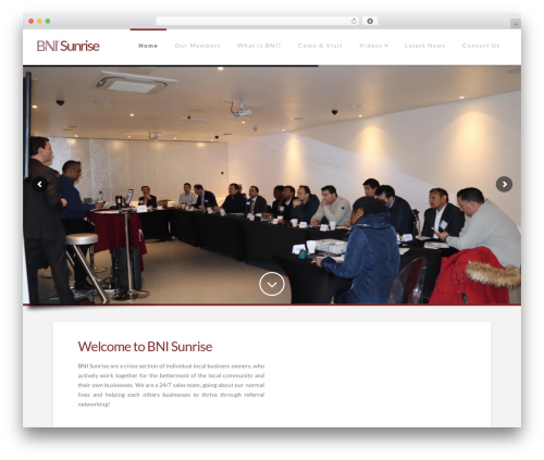 X best WordPress theme - bni-sunrise.co.uk