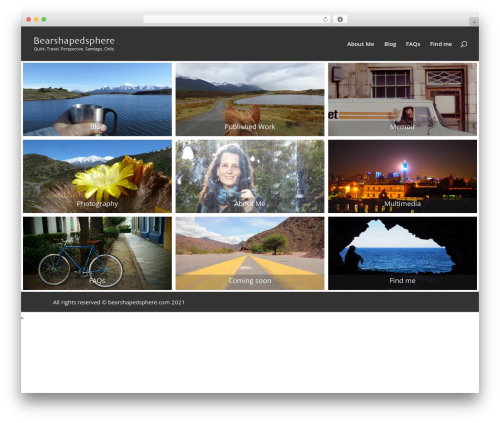 Divi WordPress travel theme - bearshapedsphere.com