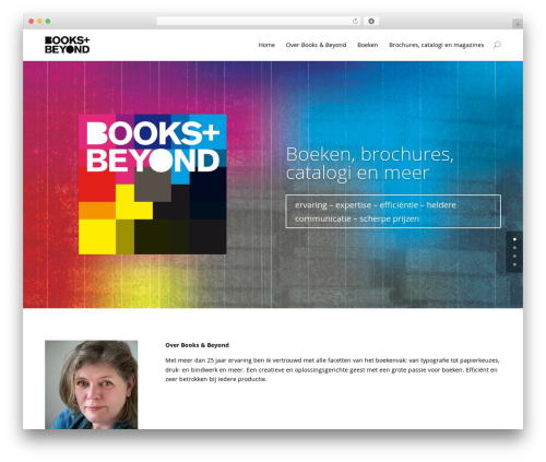 Divi WP theme - booksandbeyond.nl