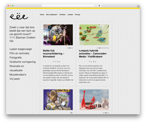 Exhibit WordPress theme design - basmancreeert.nl