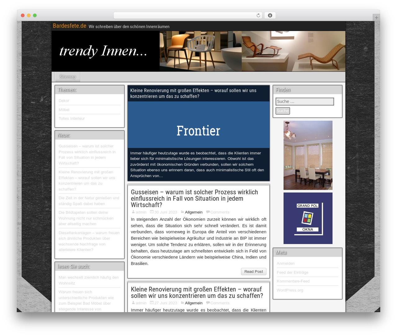 Frontier theme WordPress free by ronangelo - bardesfete.de