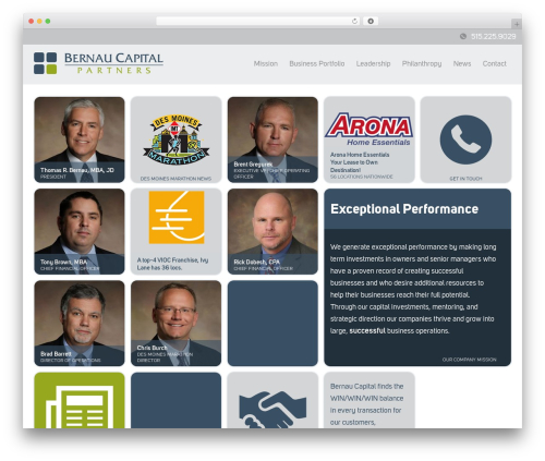 Investment company WordPress theme - bernaucapital.com