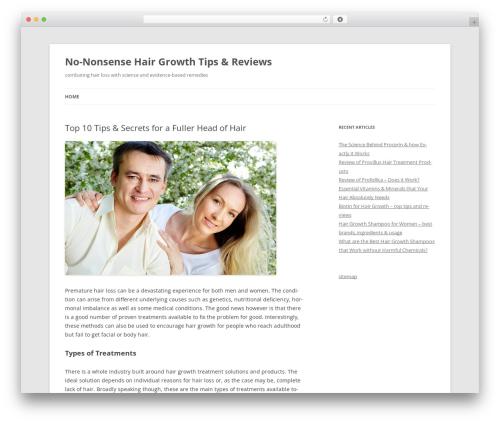 Twenty Twelve theme WordPress free - besthairgrowthsecrets.com