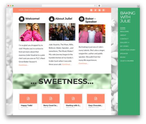 WordPress theme X - bakingwithjulie.com