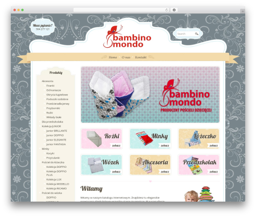WordPress website template Boutique Kids - bambinomondo.pl