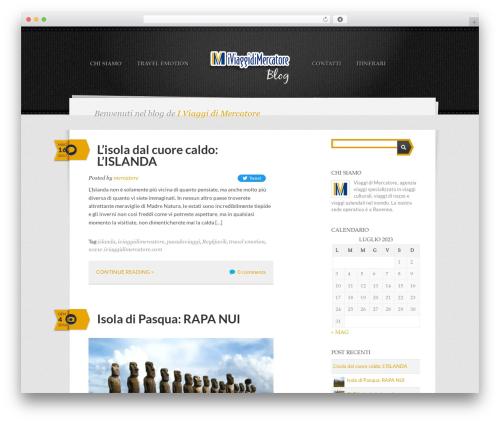 Writer Child best WordPress template - blog.iviaggidimercatore.com