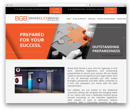 Best WordPress theme Pro Business - bgbfirm.com