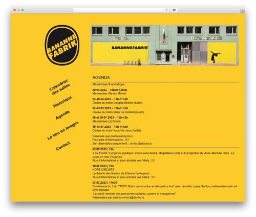 BLANK Theme WordPress template - banannefabrik.lu