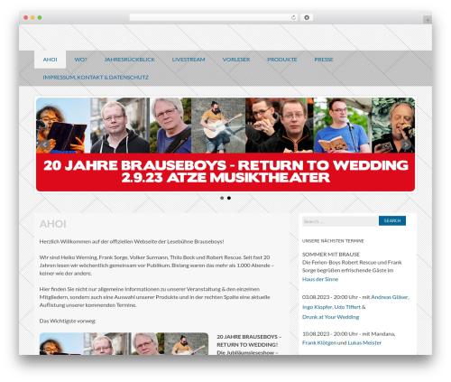 Coller free WordPress theme - brauseboys.de