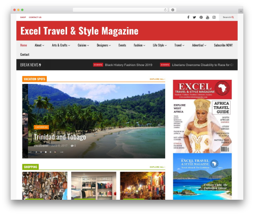 FlatNews WordPress news theme - exceltravelstylemagazine.com