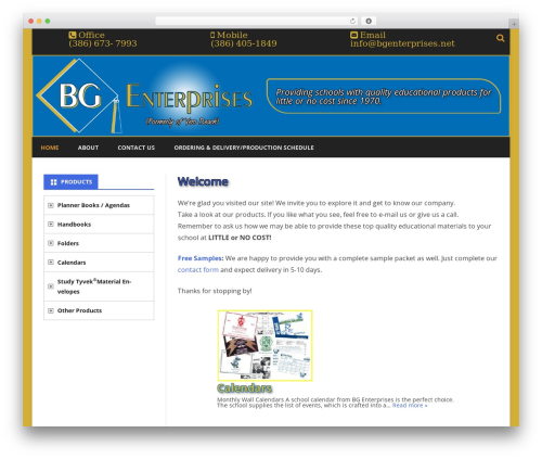 Ribosome free WordPress theme - bgenterprises.net